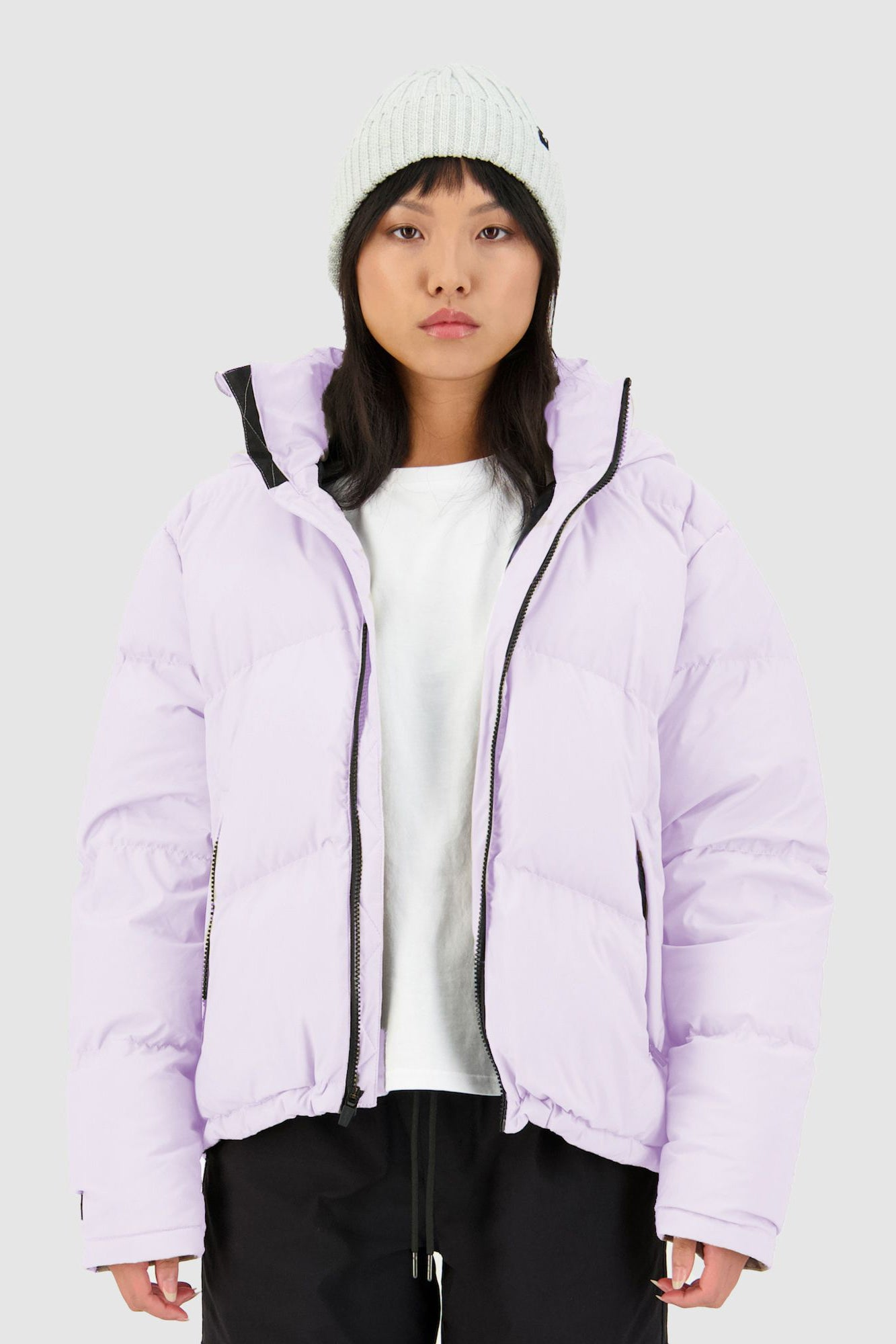 Huffer Womens Block Down Jacket - Lilac