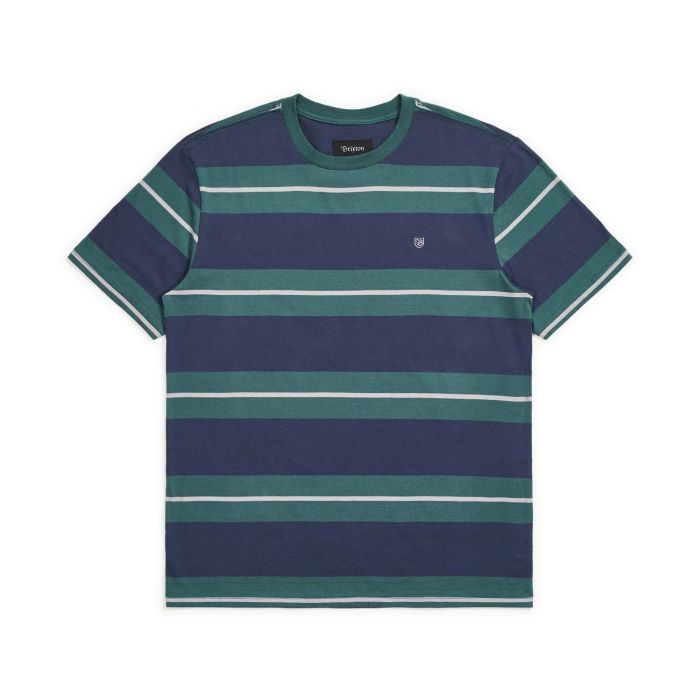 Brixton Men's Hilt Standard Fit S/S Knit - Washed Navy