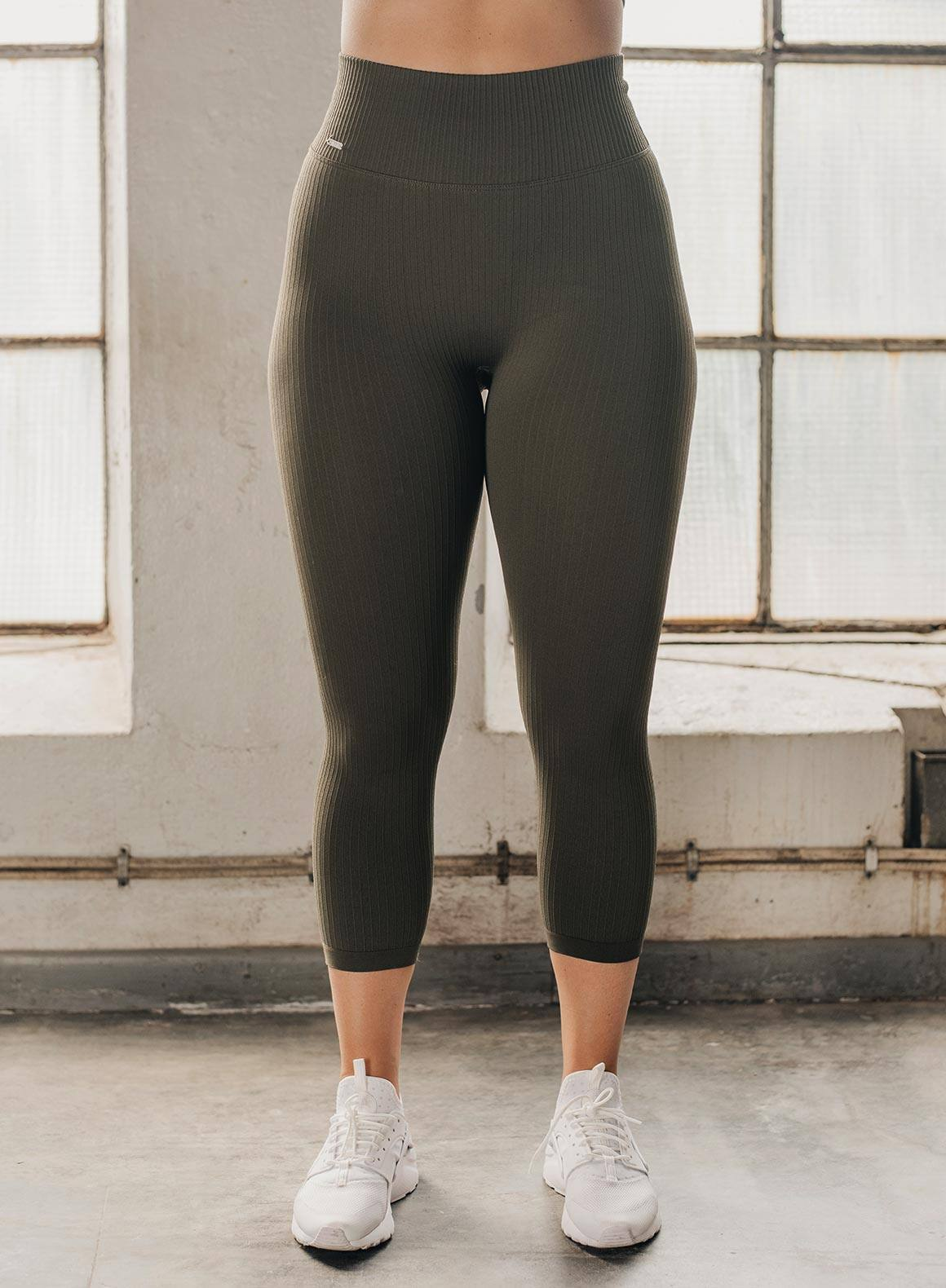 Aim'n Ribbed Seamless Tight 7/8 - Khaki
