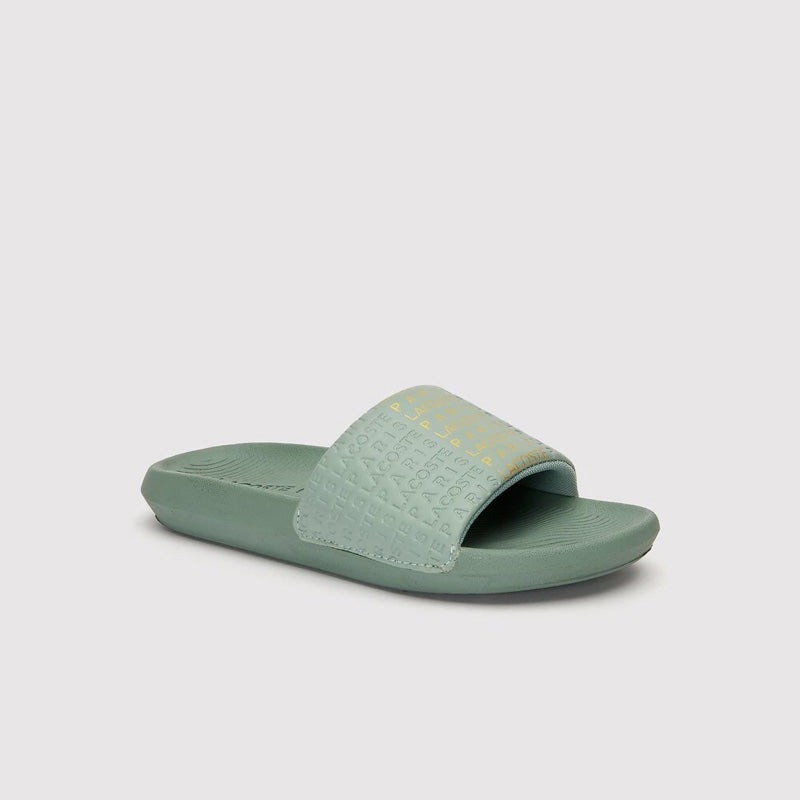 Womens Croco Slide 319 - Green/Gold