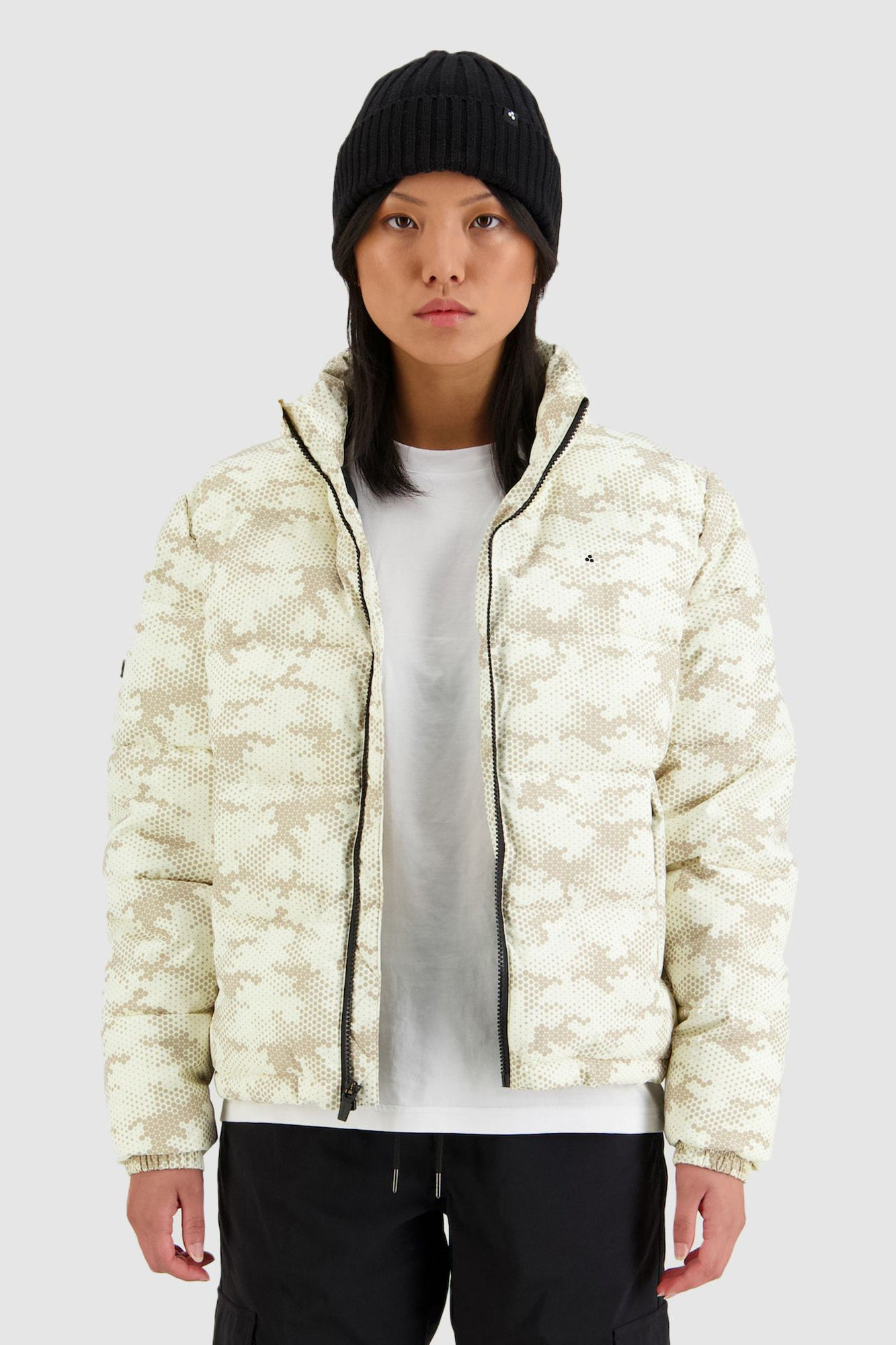 Huffer Womens No Comply Puffer Jacket - Sand Camo