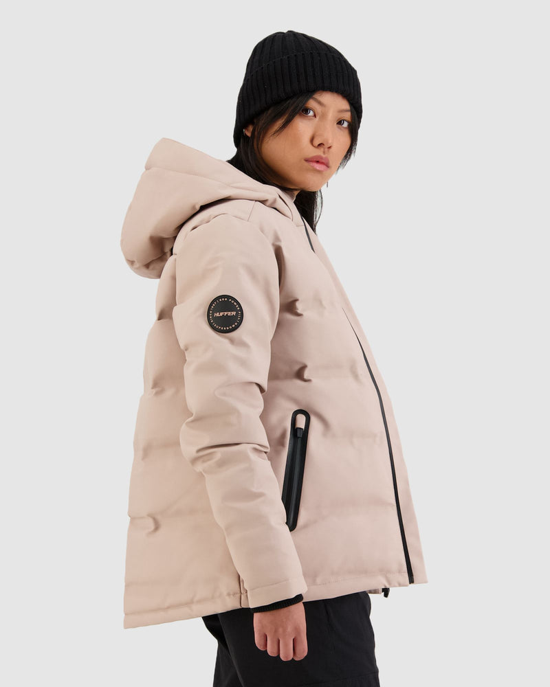 Huffer Womens Superdown Jacket - Dusty Pink