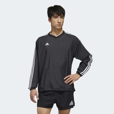 Badge Of Sport 3-Stripes Wind Top - Black