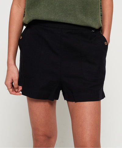 Superdry Mia Culotte Shorts Black