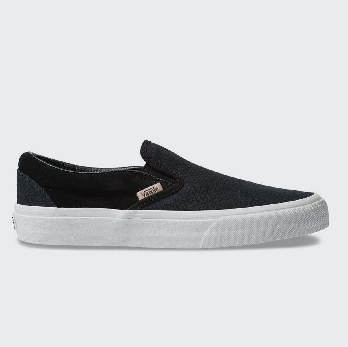 Vans Classic Slip On Woven Check - Black/Snow White