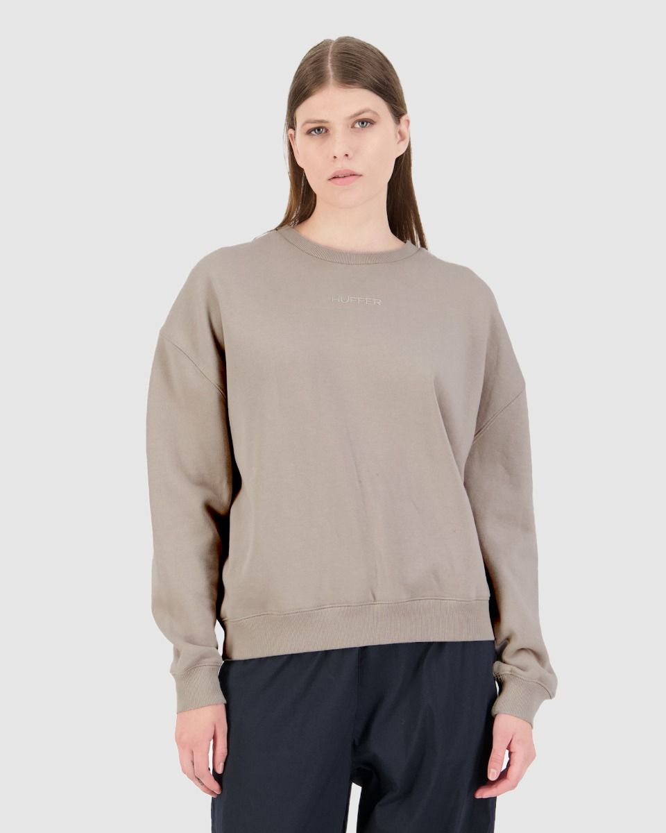 Huffer Womens Premiere Crew - Sand