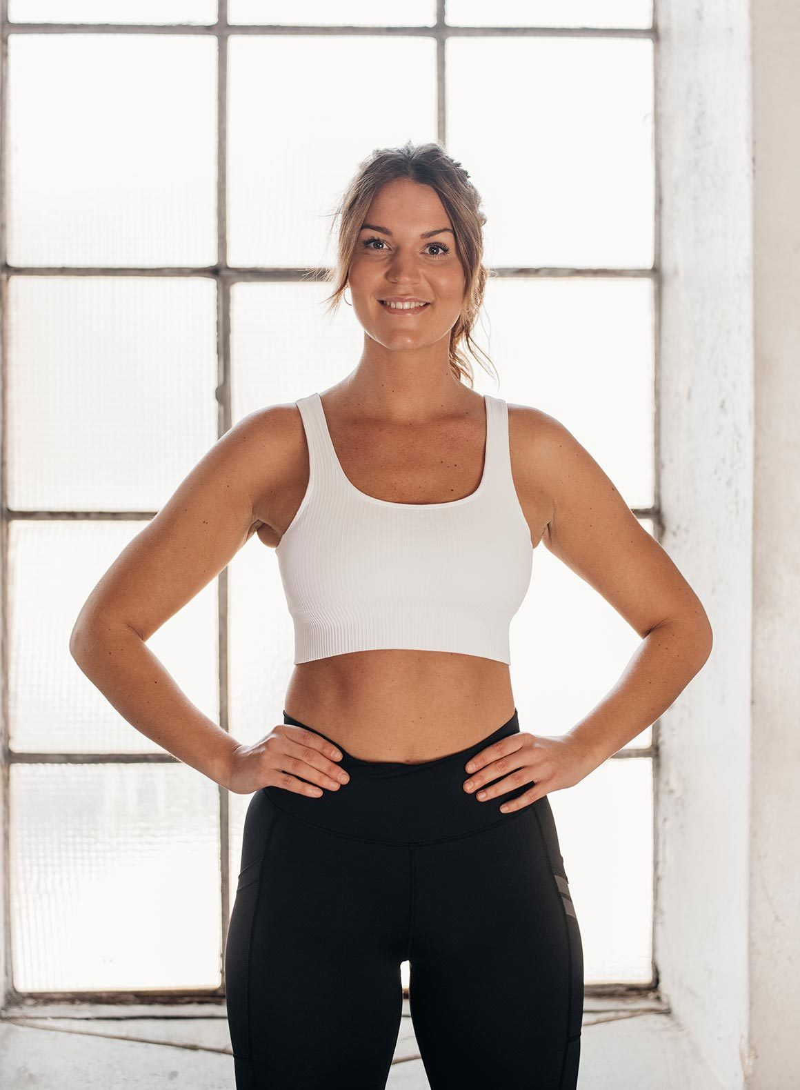 Aim'n Ribbed Seamless Bra - White | Shop AIM'N Sportswear at GOALS NZ