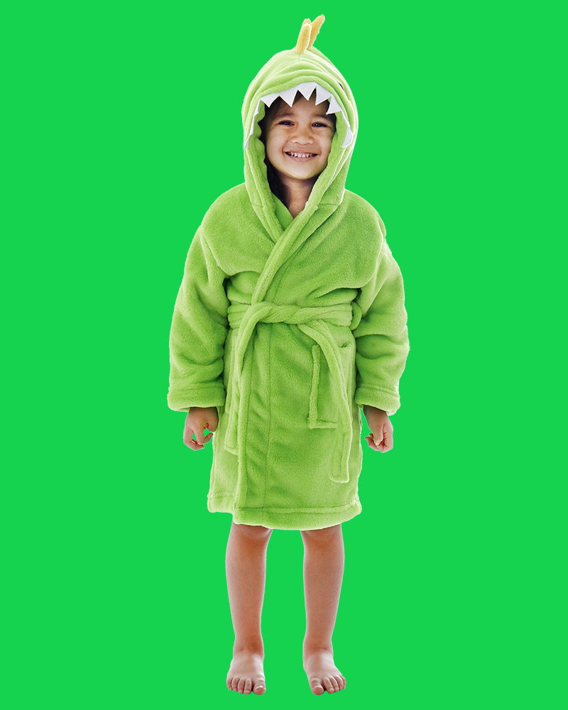 Arctic Paw Kids Boys Girls Beach Cover Up Theme Party Costume, Dino Green