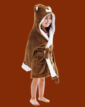 Arctic Paw Kids Boys Girls Beach Cover Up Theme Party Costume, Bear Brown