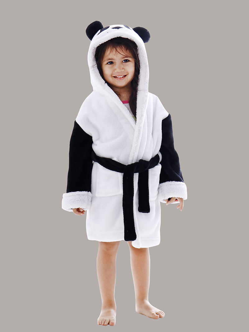 Arctic Paw Kids Boys Girls Beach Cover Up Theme Party Costume, Panda White