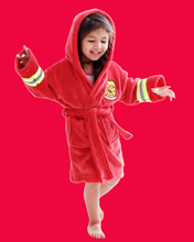 Arctic Paw Kids Boys Girls Beach Cover Up Theme Party Costume, Fireman Red