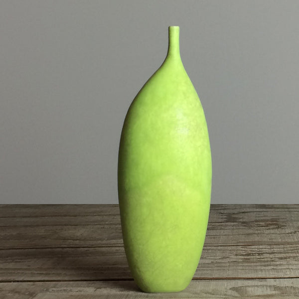 Chartreuse Tall Stem-Neck Vase