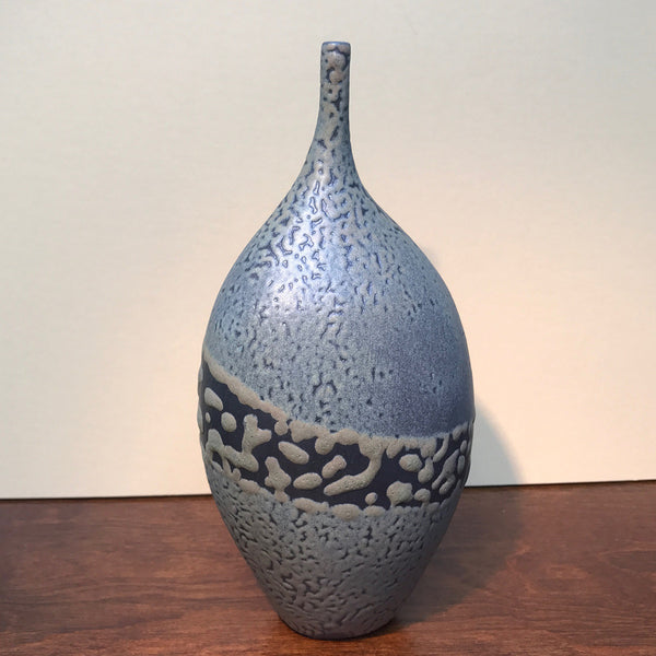 Moss Pebble-Textured Stem Vase
