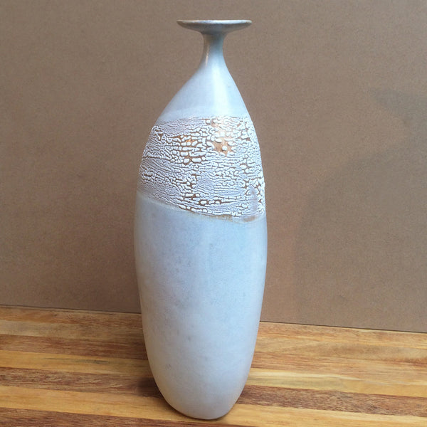 White, Tall-Lipped Vase