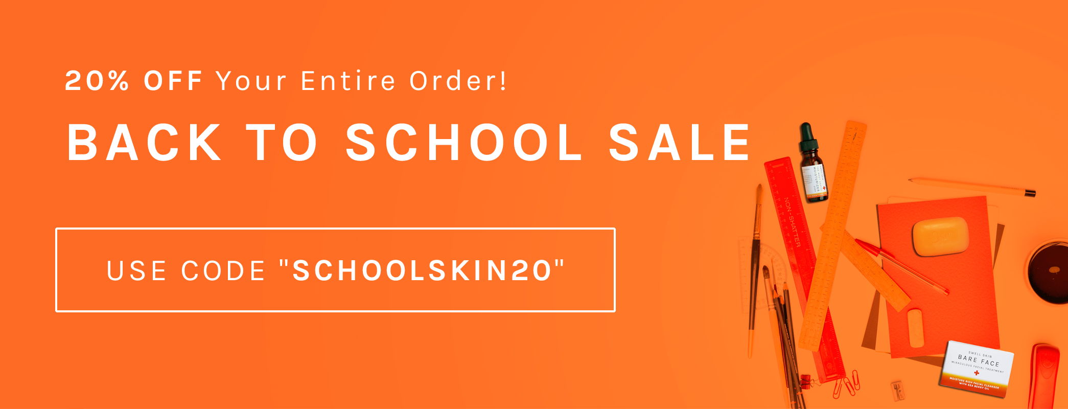 Swell Skin Back To School Sale 20% Off Weekend