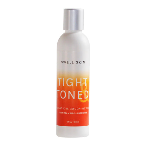 Swell Skin TIGHT & TONED Natural Facial Skin Toner Exfoliator & Pore Minimizer