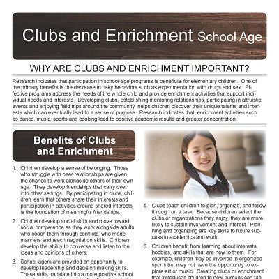 Clubs and Enrichment