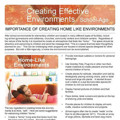 Creating Effective Environments