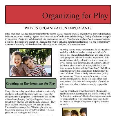 Organizing For Play