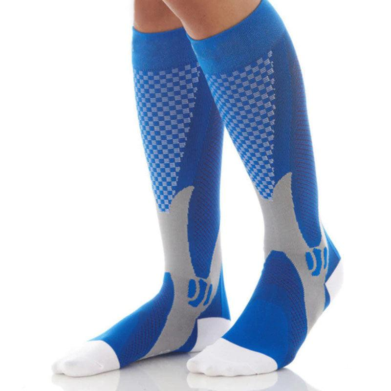 Graduated  Compression Socks - 2 Packs of 3 - Recovery, Support for Men and Women's