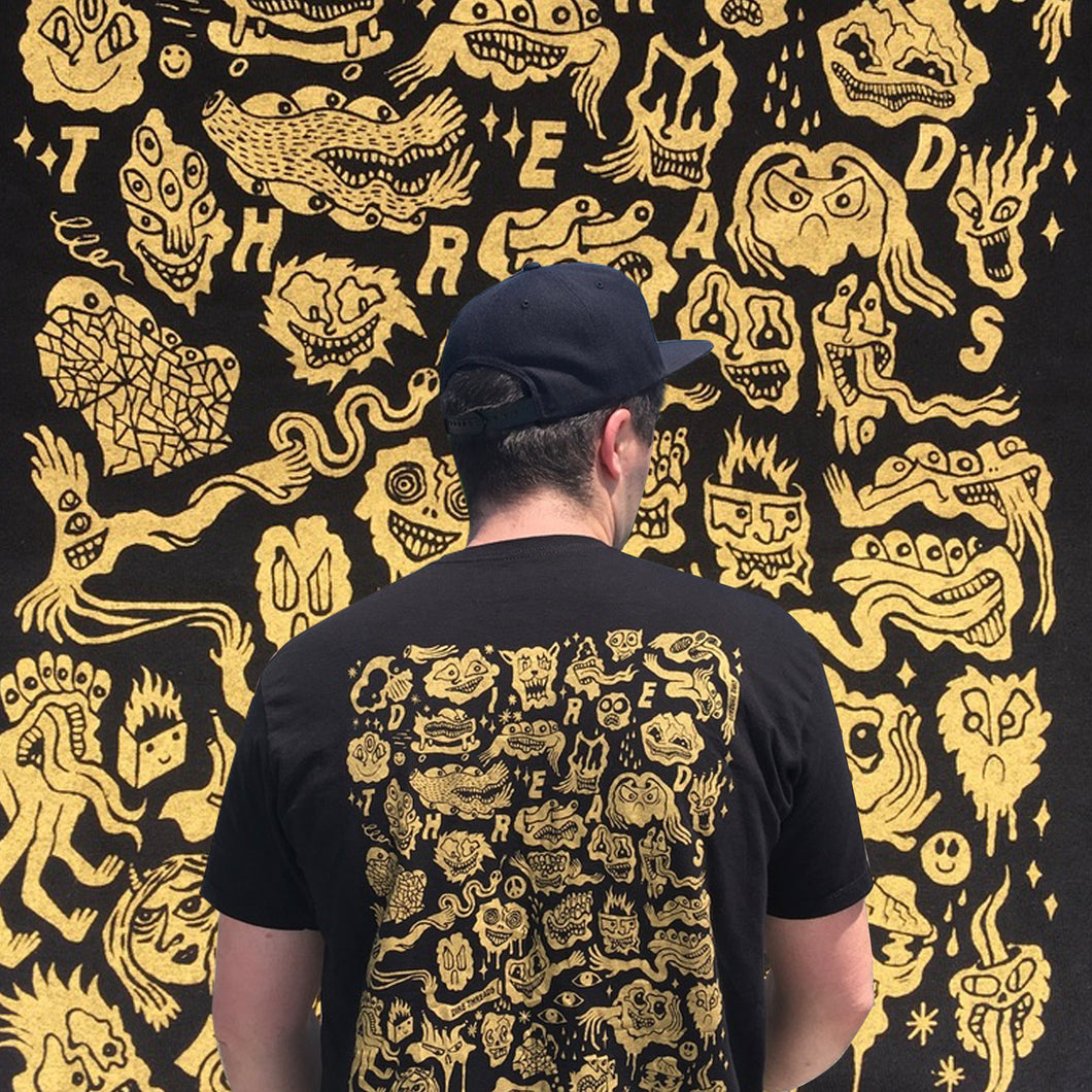 Black Hole Tee (Gold Print)