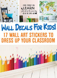 Classroom wall decals - inexpensive and adorable