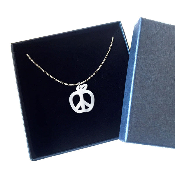 black box gift packaging for solid sterling silver necklace