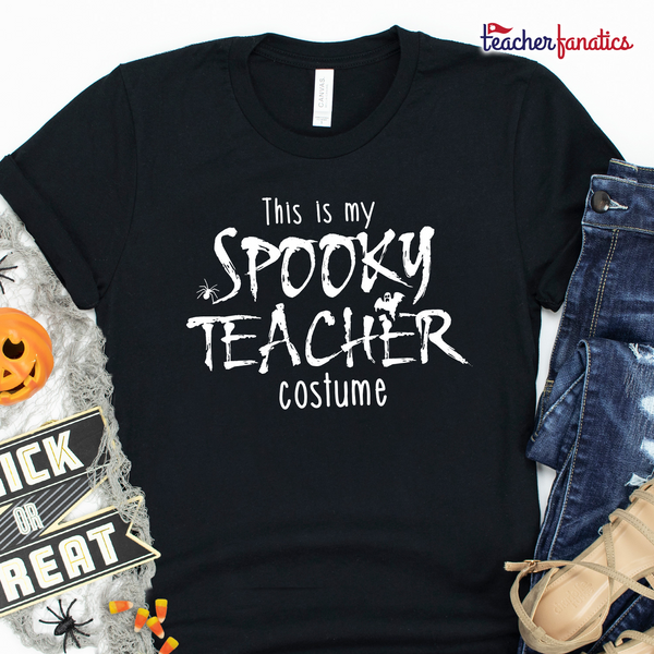 This is My Spooky Teacher Costume Funny Teacher Halloween Shirt