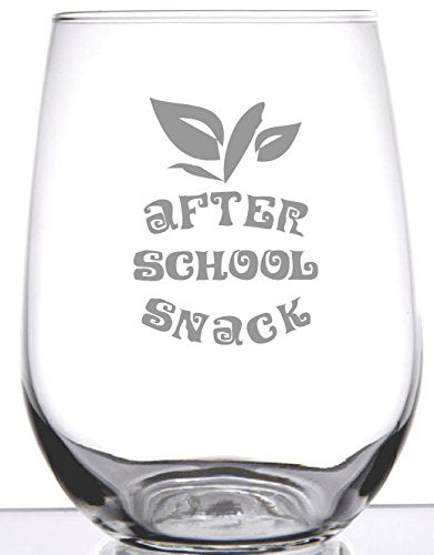 After School Snack - Stemless Wine Glass for Teachers