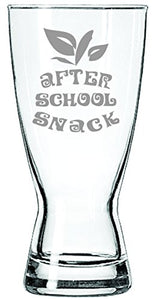 After School Snack - Funny Teacher Beer Glass