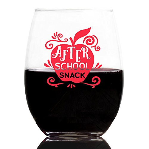After School Snack - Stemless Wine Glass