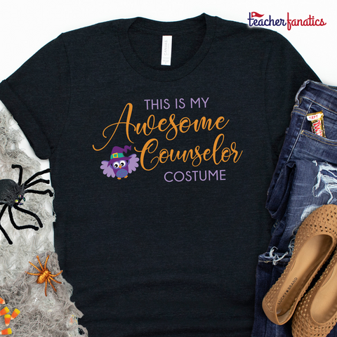 Awesome School Counselor Funny Halloween Shirt