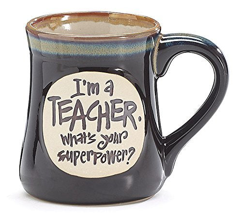 Teacher Super Power Oversized Coffee Mug