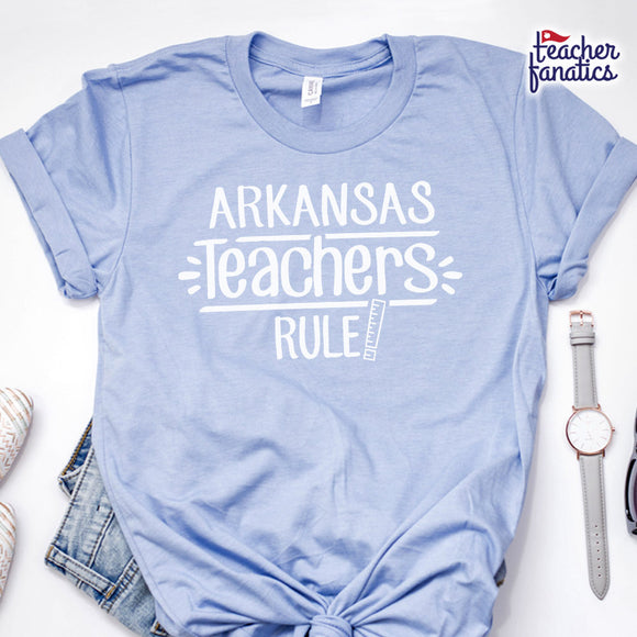 Arkansas Teachers Rule! - State T-Shirt
