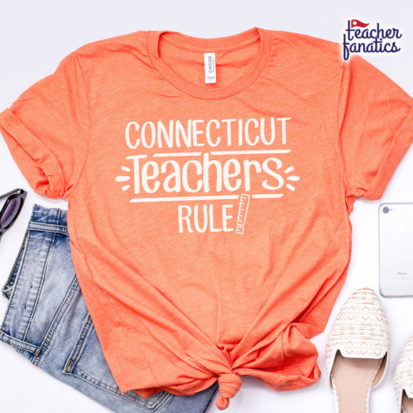 Connecticut Teachers Rule! - State T-Shirt