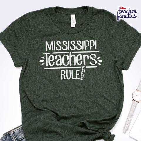 Mississippi Teachers Rule! - State T-Shirt