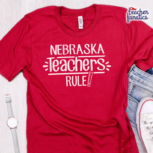 Nebraska Teachers Rule! - State T-Shirt
