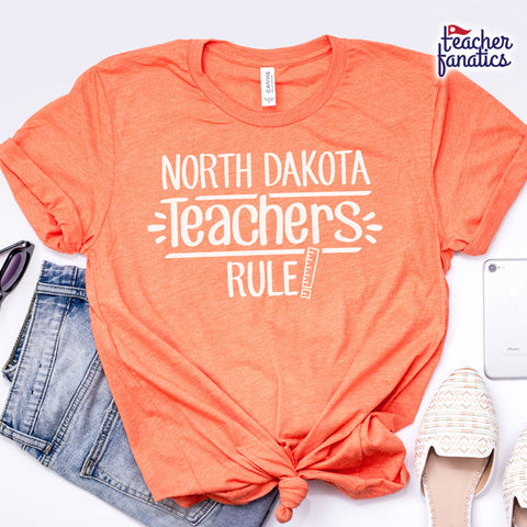 North Dakota Teachers Rule! - State T-Shirt