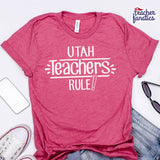 Utah Teachers Rule! - State T-Shirt