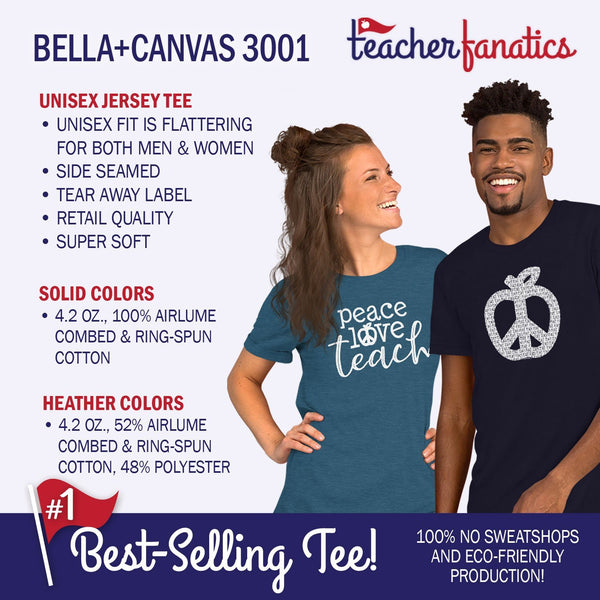 Bella Canvas Teacher Tees Features