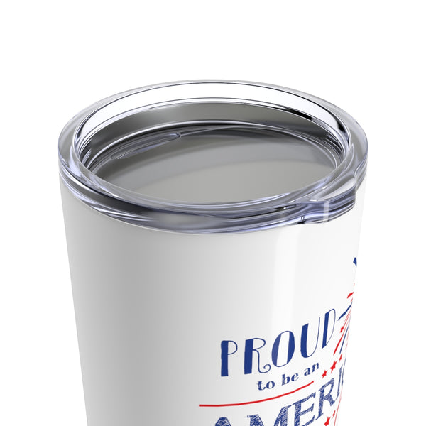 Proud American Teacher 4th of July Cup - 20oz Teacher Tumbler Gift