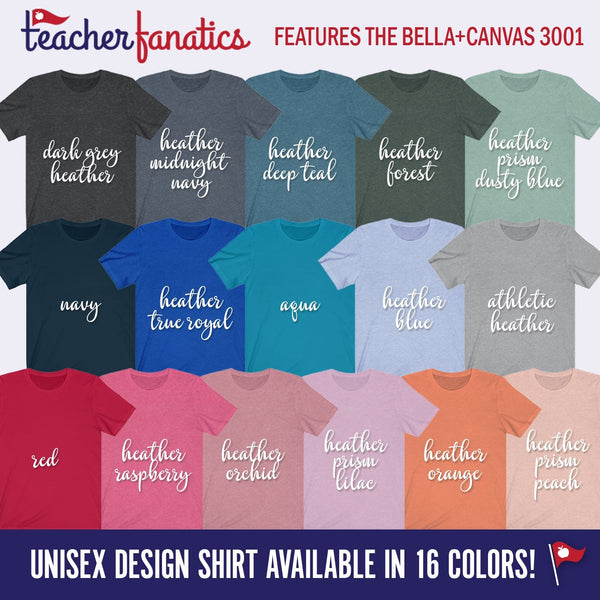 Color options for teacher shirts