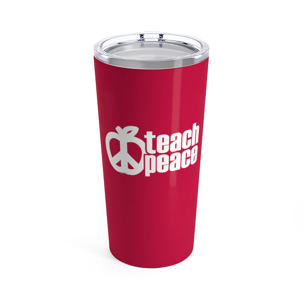 Teach Peace Classic Apple Cup - 20oz Teacher Tumbler Gift