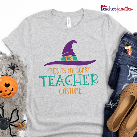 This is My Scary Teacher Costume Funny Teacher Halloween Shirt