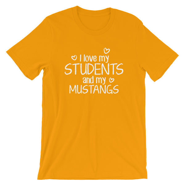 I Love My Students and My Mustangs Shirt