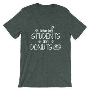 I Love My Students and Donuts Shirt