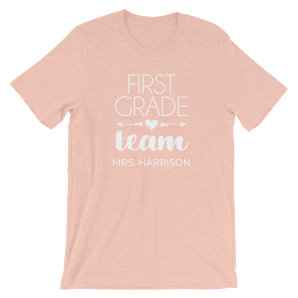 First Grade Teacher Shirt - Personalized Teacher Team T-Shirt