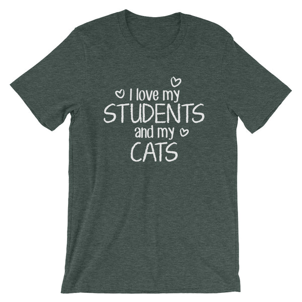 I Love My Students and My Cat Shirt