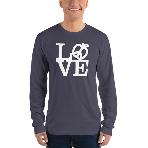 Teach Peace Love long sleeve t-shirt (unisex)