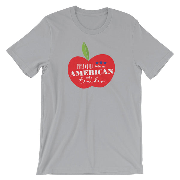 Proud to be an American and a Teacher Shirt | Large Apple Design